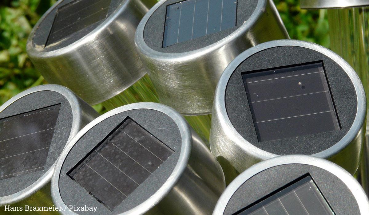 Solarleuchten verkleben